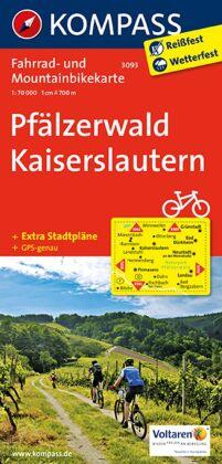 KOMPASS Fahrradkarte Pfälzerwald - Kaiserslautern