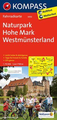 KOMPASS Fahrradkarte Naturpark Hohe Mark - Westmünsterland