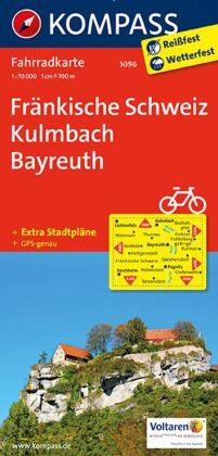 KOMPASS Fahrradkarte Fränkische Schweiz, Kulmbach, Bayreuth