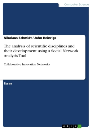 The analysis of scientific disciplines and their development using a Social Network Analysis Tool