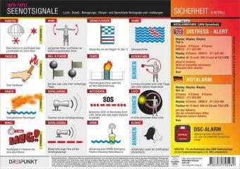 Seenotsignale, Info-Tafel