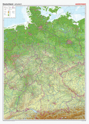 Westermann Deutschland, physisch, Posterkarte