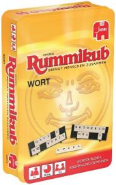 Wort Rummikub Kompakt, in Metalldose (Spiel) Cover
