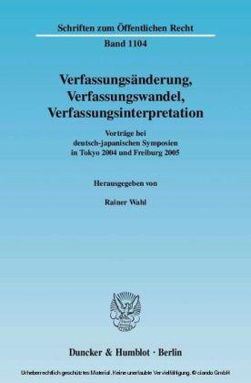 Verfassungsänderung, Verfassungswandel, Verfassungsinterpretation