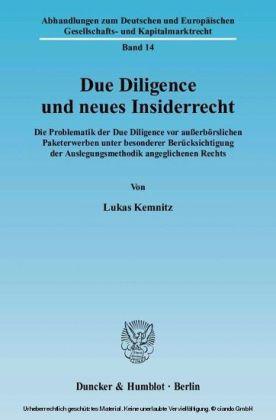 Due Diligence und neues Insiderrecht