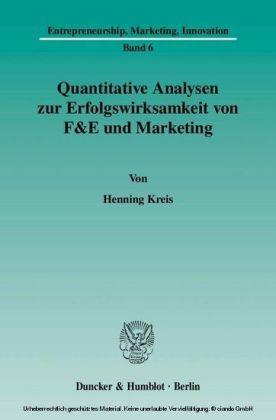 Quantitative Analysen zur Erfolgswirksamkeit von F&E und Marketing