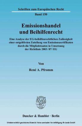 Emissionshandel und Beihilfenrecht
