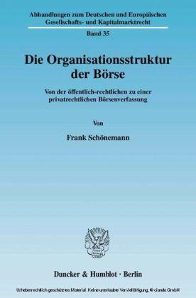 Die Organisationsstruktur der Börse