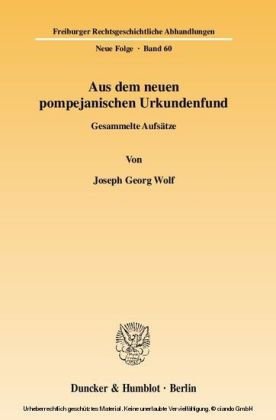 Aus dem neuen pompejanischen Urkundenfund.