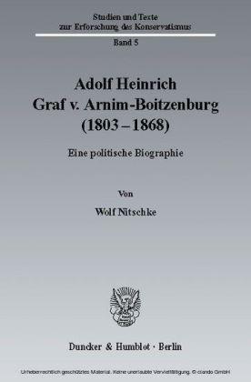 Adolf Heinrich Graf v. Arnim-Boitzenburg (1803-1868)