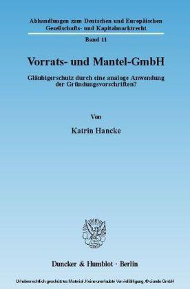 Vorrats- und Mantel-GmbH.