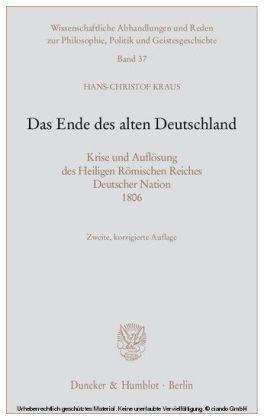 Das Ende des alten Deutschland.