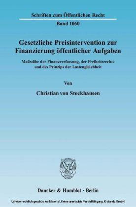 Gesetzliche Preisintervention zur Finanzierung öffentlicher Aufgaben