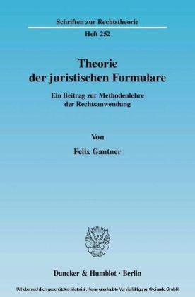 Theorie der juristischen Formulare.