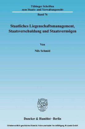 Staatliches Liegenschaftsmanagement, Staatsverschuldung und Staatsvermögen