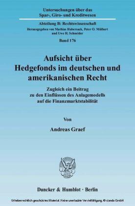 Aufsicht über Hedgefonds im deutschen und amerikanischen Recht