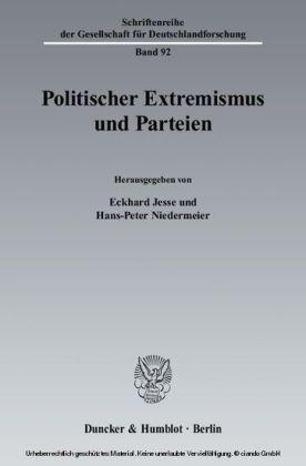 Politischer Extremismus und Parteien.