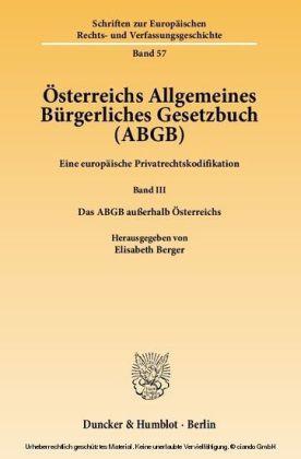 Österreichs Allgemeines Bürgerliches Gesetzbuch (ABGB)