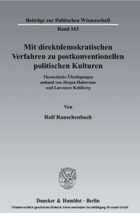 Mit direktdemokratischen Verfahren zu postkonventionellen politischen Kulturen