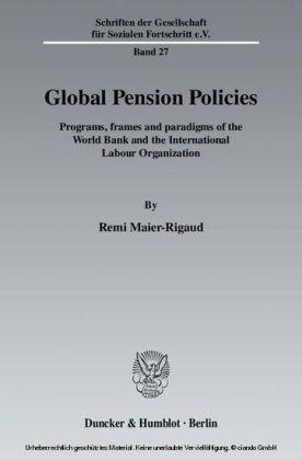 Global Pension Policies