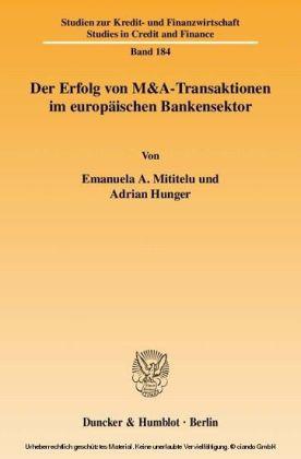 Der Erfolg von M&A-Transaktionen im europäischen Bankensektor