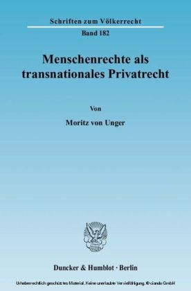 Menschenrechte als transnationales Privatrecht