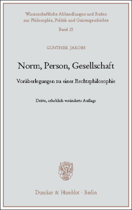 Norm, Person, Gesellschaft
