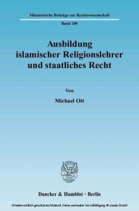 Ausbildung islamischer Religionslehrer und staatliches Recht