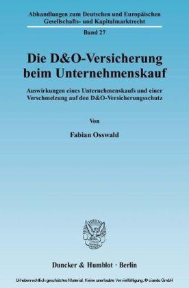 Die D&O-Versicherung beim Unternehmenskauf