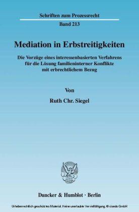 Mediation in Erbstreitigkeiten