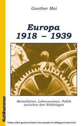 Europäische Geschichte 1918-1939