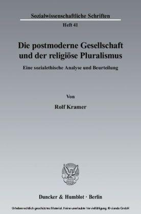 Die postmoderne Gesellschaft und der religiöse Pluralismus
