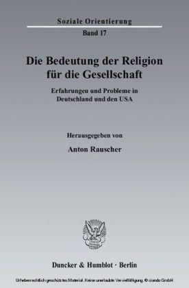 Die Bedeutung der Religion für die Gesellschaft