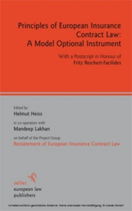 Principles of European Insurance Contract Law: A Model Optional Instrument