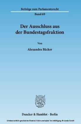 Der Ausschluss aus der Bundestagsfraktion.
