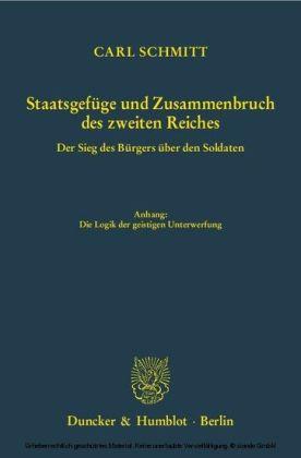 Staatsgefüge und Zusammenbruch des zweiten Reiches.