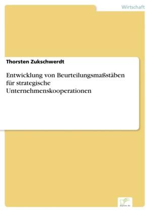 Entwicklung von Beurteilungsmaßstäben für strategische Unternehmenskooperationen