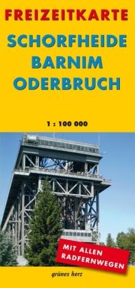 Freizeitkarte Schorfheide, Barnim, Oderbruch