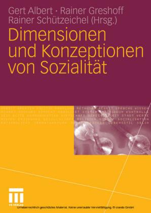 Dimensionen und Konzeptionen von Sozialität