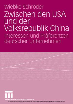 Zwischen den USA und der Volksrepublik China
