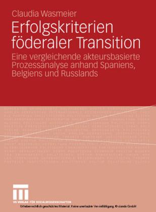 Erfolgskriterien föderaler Transition
