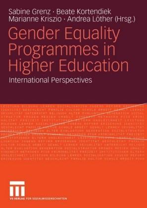 Gender Equality Programmes in Higher Education