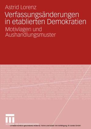 Verfassungsänderungen in etablierten Demokratien