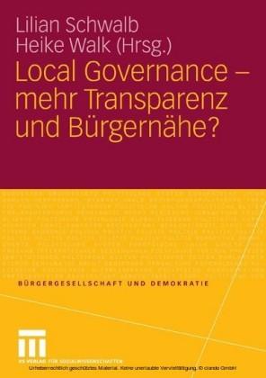 Local Governance - mehr Transparenz und Bürgernähe?