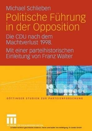 Politische Führung in der Opposition
