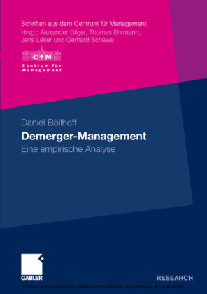 Demerger-Management