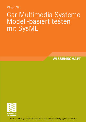 Car Multimedia Systeme Modell-basiert testen mit SysML