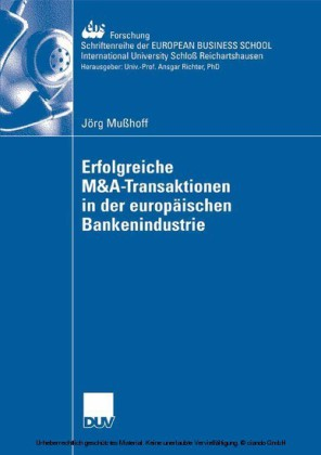 Erfolgreiche M&A-Transaktionen in der europäischen Bankenindustrie