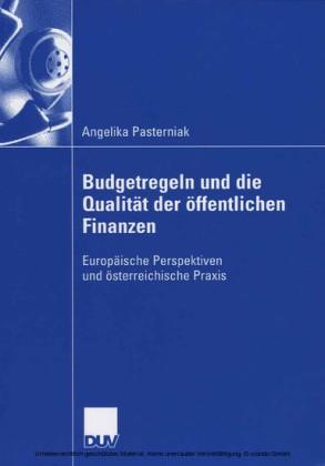 Budgetregeln und die Qualität der öffentlichen Finanzen