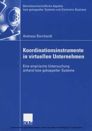 Koordinationsinstrumente in virtuellen Unternehmen